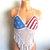 Vikni Crochet American Flag Crop Top, Festival Crochet Top by Vikni Designs
