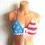 Vikni Designs Crochet American Flag Bikini Top