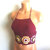 Vikni Designs Festival Crochet Crop Top, Burgundy Flower Crochet Tops