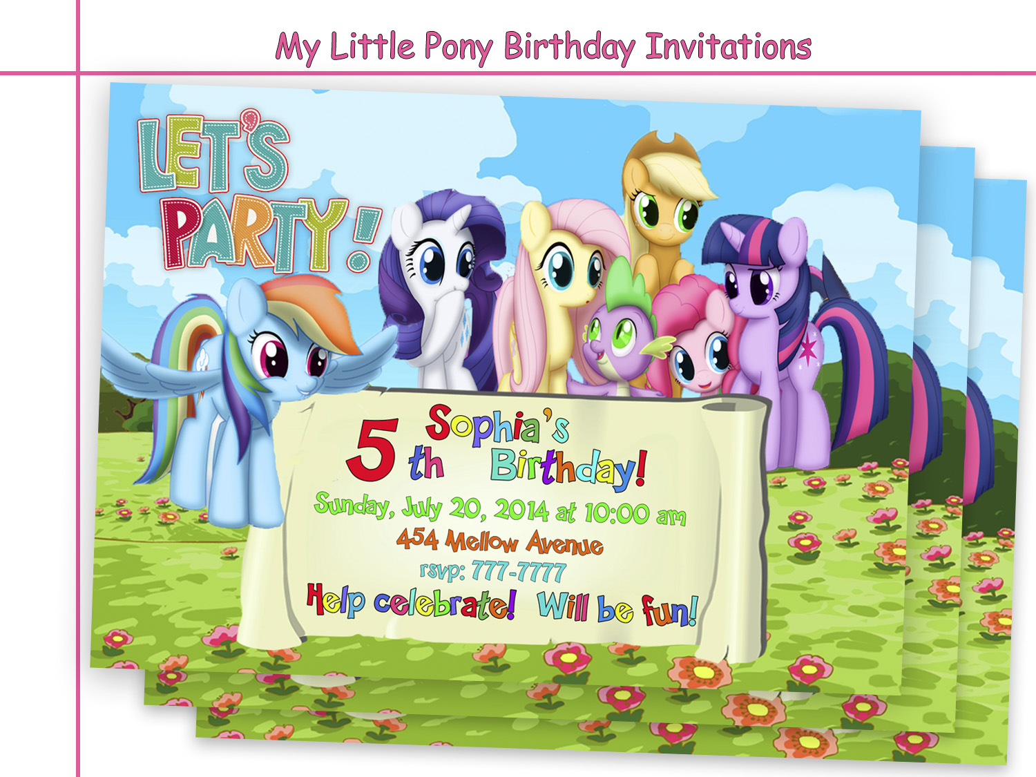 Amazing My Little Pony Birthday By HolidayPartyStar On Zibbet
