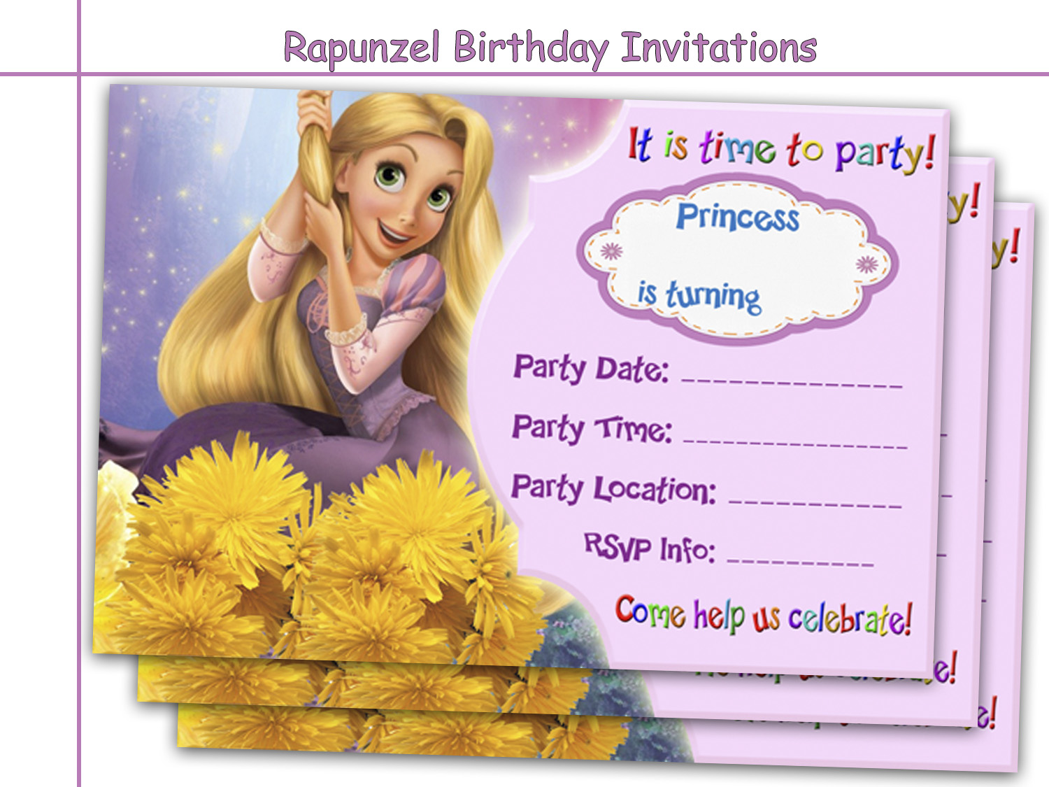 Amazing rapunzel birthday invitations by holidaypartystar on zibbet filmwisefo