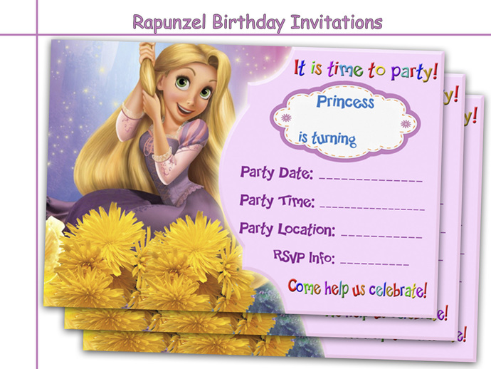 Amazing rapunzel birthday invitations by holidaypartystar on zibbet amazing rapunzel birthday invitations party paper goods printable invite bookmarktalkfo Image collections