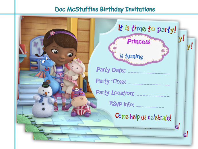 Amazing Doc McStuffins Birthday Invitations Party Paper Goods Printable