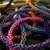 Colorful wire crochet rope bangle - Pick your color