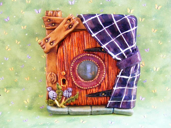 Scottish Tartan fairy Door