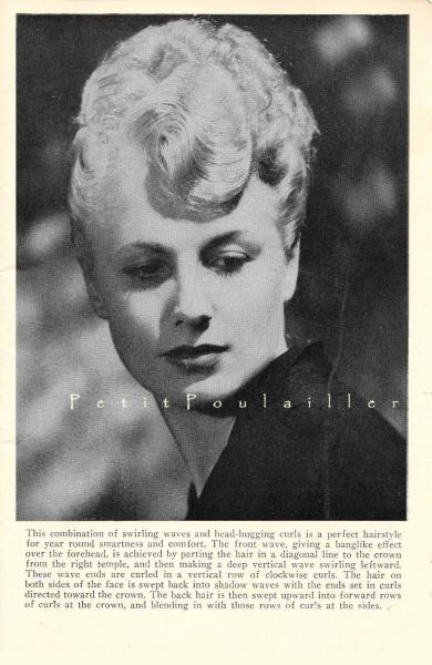 Mid Century Hair Styles 1948 Vintage Retro Black and White Fashion Rotogravures,
