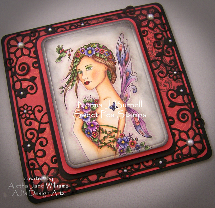 Posey Fairy Handmade OOAK Greeting Art Card