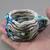beaded cotton cuff bracelet 1231