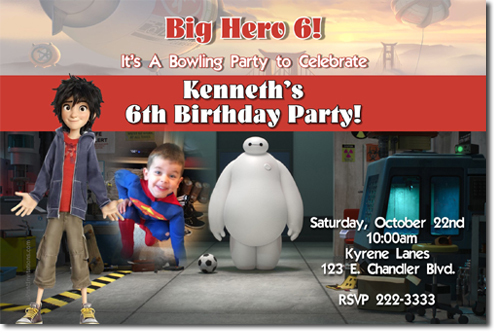 Big Hero 6 Birthday Invitations (Download JPG Immediately)