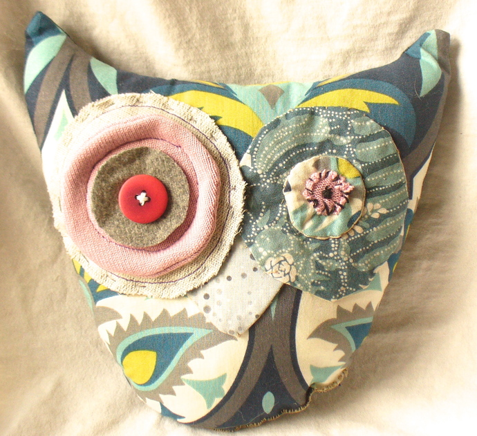 Fabric Stuffed Owl