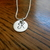 "Monogram Pendant - Hand Stamped 1/2"" Sterling Silver, Hand Stamped Jewelry,"