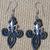 Double Layered fleurs-de-lis Earrings