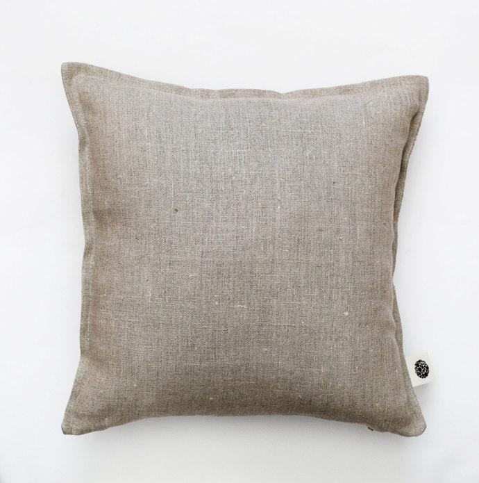 Linen pillow cover grey - decorative covers- throw pillows - shams 20x20 inch