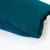 Teal blue pillow cover in size 16x16 inches flanged with 1 inch.