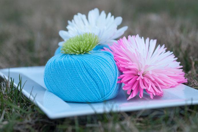 Diamond Fibers Cashmere Lace Yarn - Cornflower