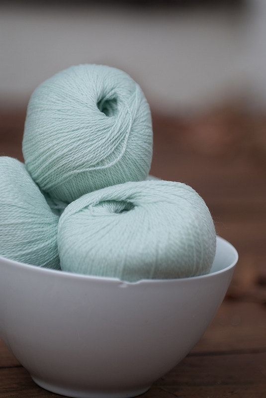 Diamond Fibers Cashmere Lace Yarn - Seafoam