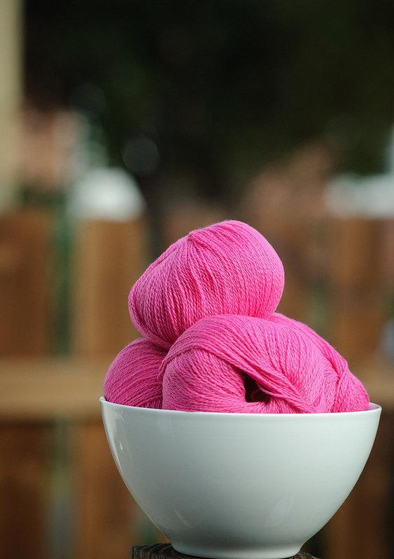 Diamond Fibers Cashmere Lace Yarn - Peony