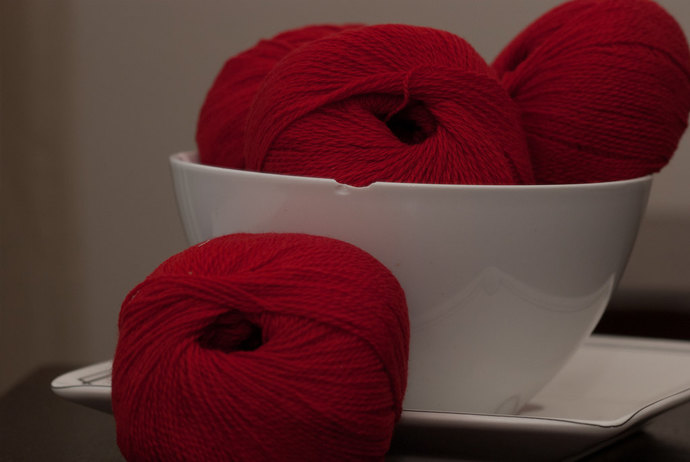 Diamond Fibers Cashmere Lace Yarn - Crimson