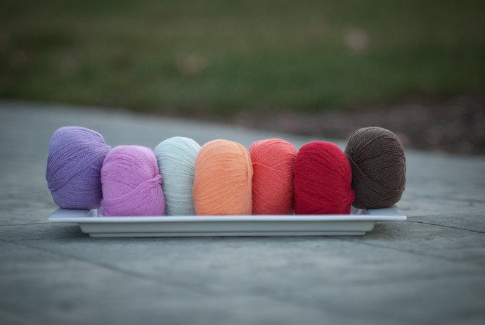 Diamond Fibers Cashmere Lace Yarn - Sweet Pea
