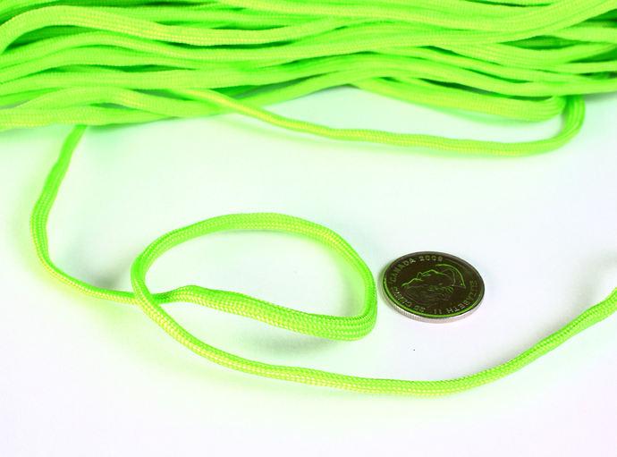 4mm green parachute cord - rope - Paracord - Para cord - 10 feet (1456)