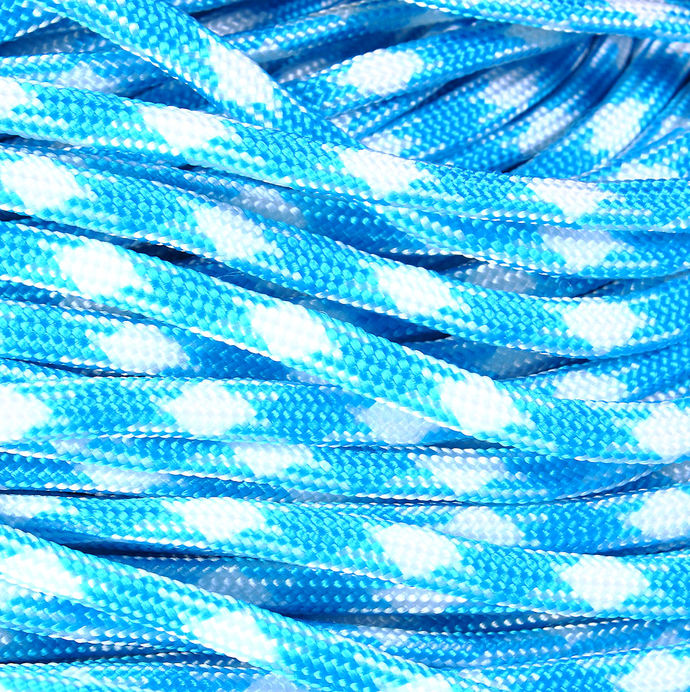 4mm Blue white parachute cord - rope - Paracord - Para cord - 10 feet / 3 meters
