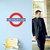 "London Underground Metro Symbol Vinyl Decal - 18.5"" tall x 24"" wide"