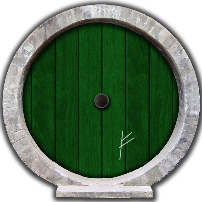 "Hobbit Door Wall Decal with Burglar Mark - 12"" tall x 12"" wide"