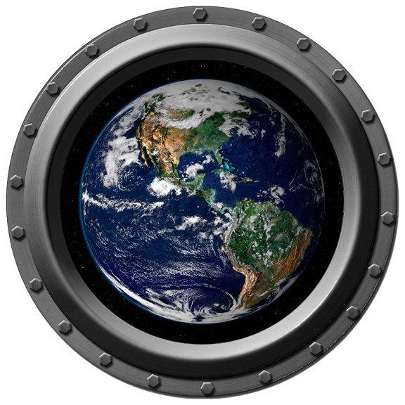 Earth Porthole Wall Decal