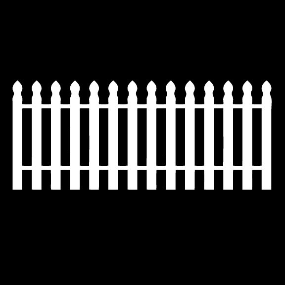 Large Picket Fence Wall Decal 27 inch by 54 inch