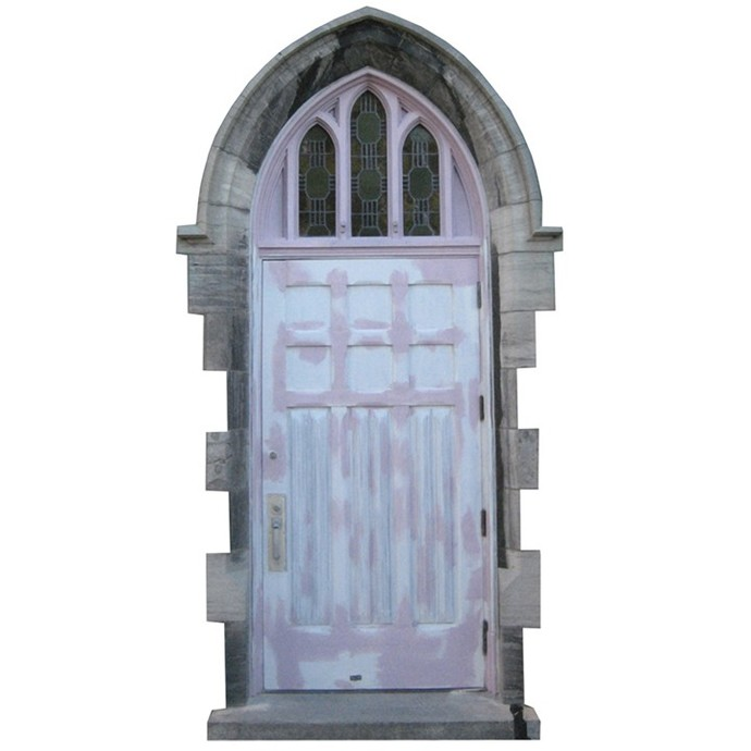 """White Fairy Door Wall Decal - 9"""" tall x 5"""" wide"""