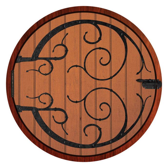 Life Size Hobbit Door Wall Decal 54 in x 54 in  sc 1 st  Zibbet & Life Size Hobbit Door Wall Decal 54 in x 54 by WilsonGraphics on
