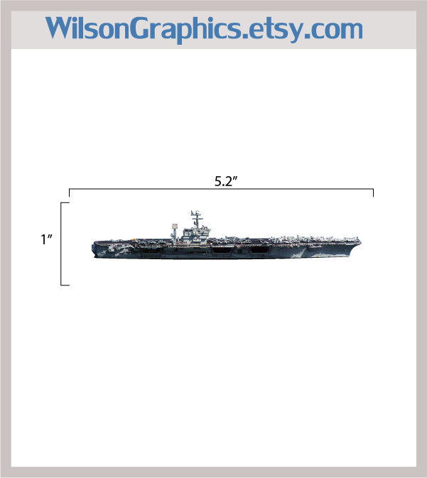 Navy Aircraft Carrier Vinyl Decal Version 2