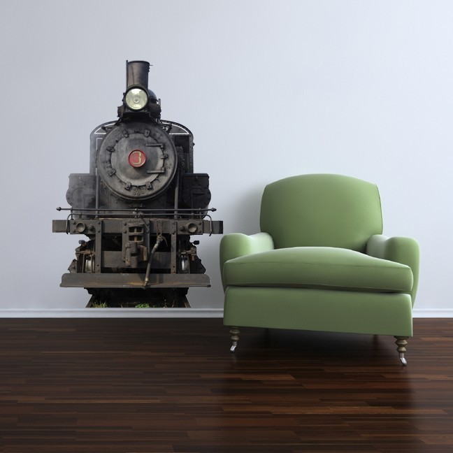 Steam Train Number 3 Vinyl Wall Decal