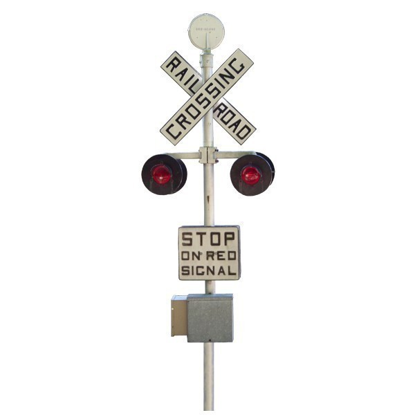 """Railroad Crossing Sign Wall Decal - 27"""" tall x 9.25"""" wide"""