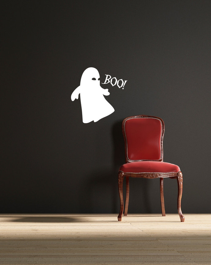 """Little Ghost  Wall Decal - 12.5"""" tall x 12.5"""" wide"""