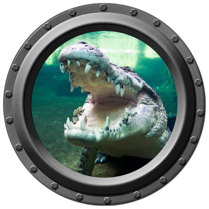 Hungry Alligator Porthole Wall Decal
