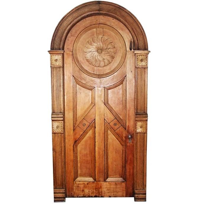 "Fancy Wooden Fairy Door Wall Decal - 10"" tall x 5"" wide"