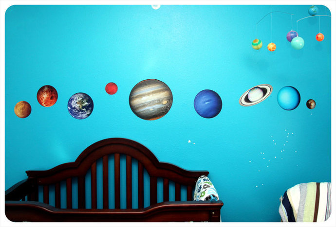 Planets of Our Solar System Wall Decal Set