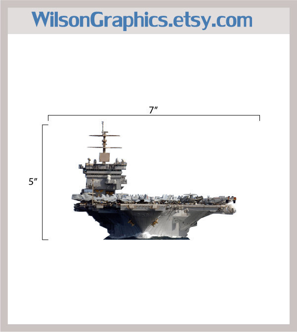 Navy Aircraft Carrier Decal Version Three