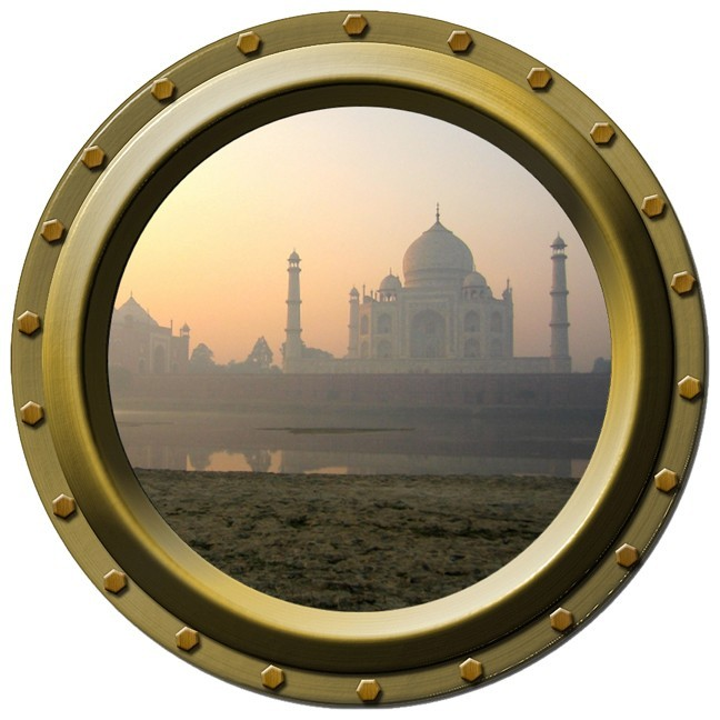Taj Mahal Porthole Wall Decal