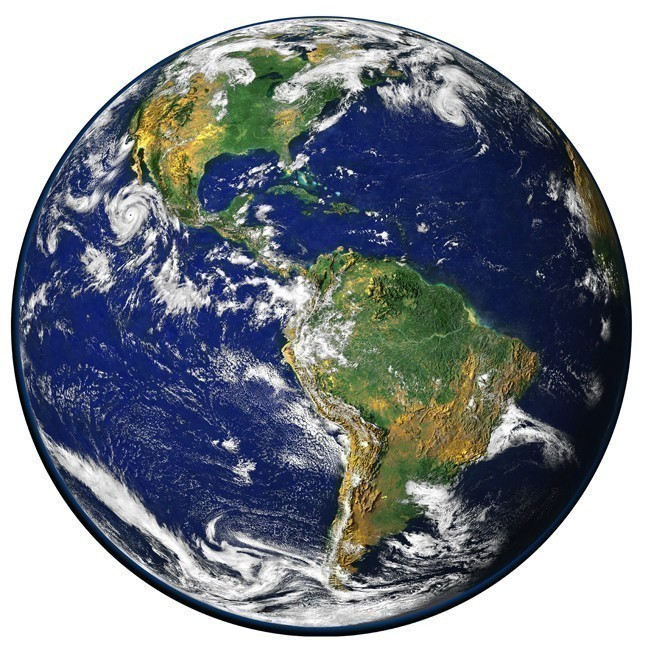 "Planet Earth Large Vinyl Wall Decal - 27"" tall x 27"" wide"