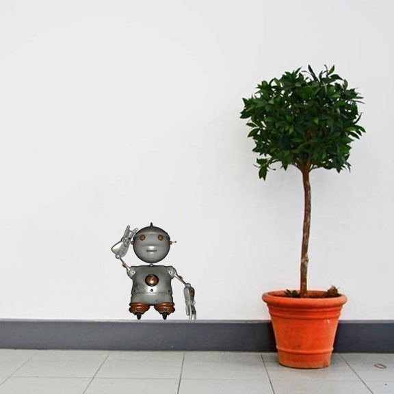 2 Zippy the Robot Wall Decals - Sizes in Description