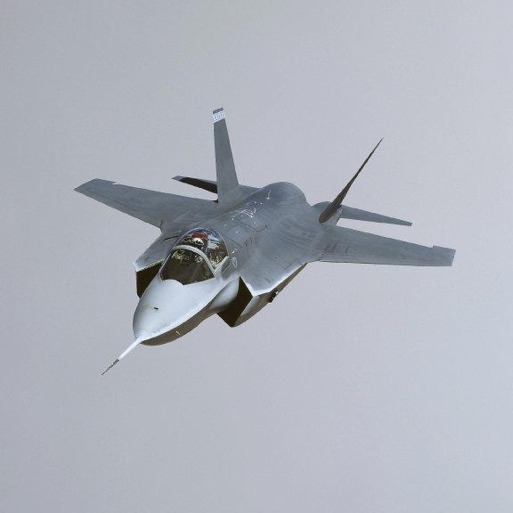 "F-35 Jet Plane Wall Decal Version 1 - 2.5"" tall x 6"" wide"