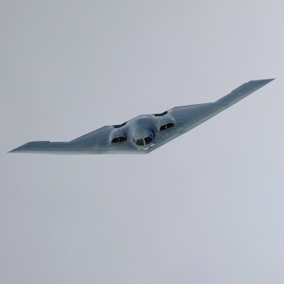 """B-2 Bomber Plane Wall Decal - 1.5"""" tall x 8"""" wide"""