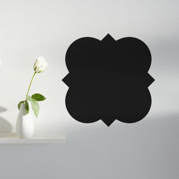 """Quatrefoil Shaped Chalkboard Wall Decal - Design 001 - 12"""" tall x 12"""" wide"""