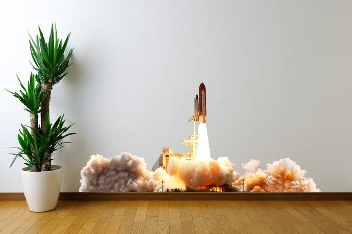 Space Shuttle Launch Vinyl Wall Decal