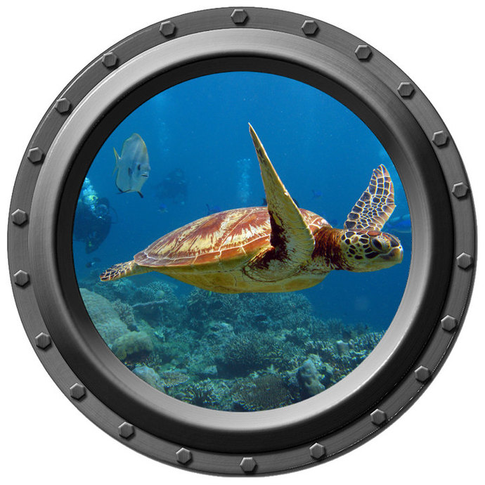 Catch Me if You Can Porthole Decal