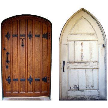 """2 Mini Fairy Doors Decals - 4"""" tall x 2.25"""" wide"""