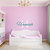 Personalized Girls Name and Initial Wall Decal Set - Overall Size Approximately
