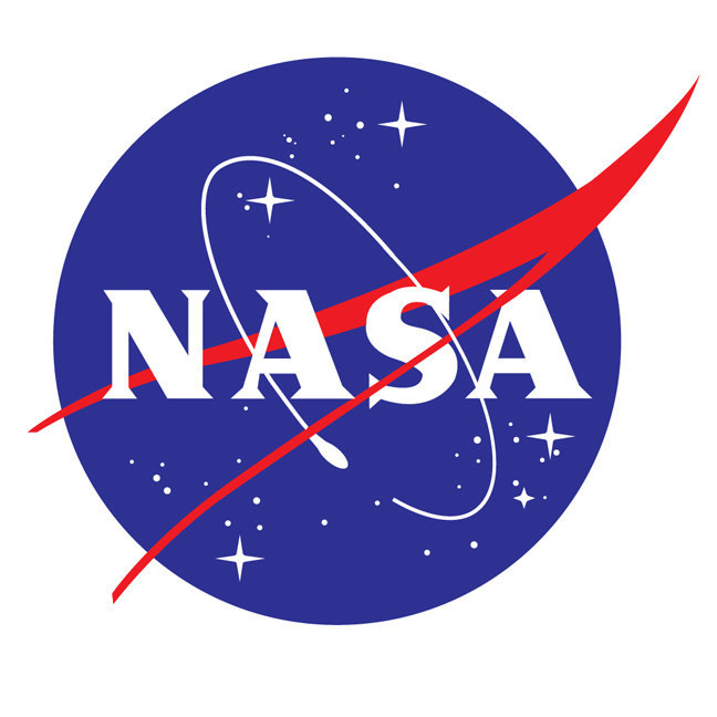 "Large NASA Logo Wall Decal - 23"" tall x 28"" wide"